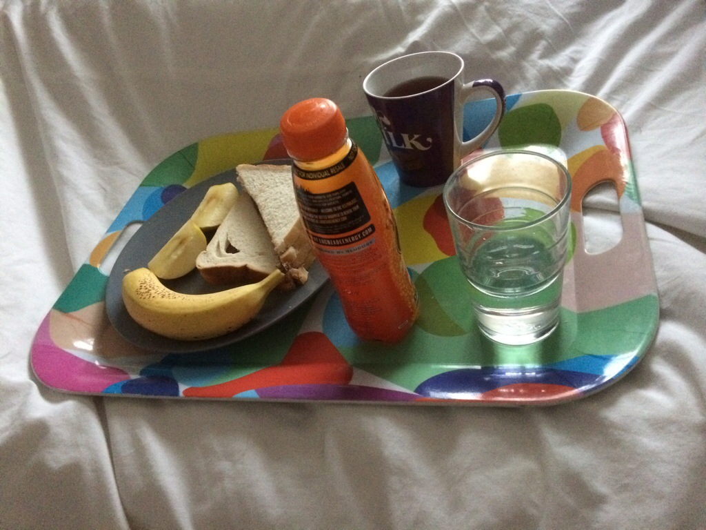 Breakfast of sorts in bed
