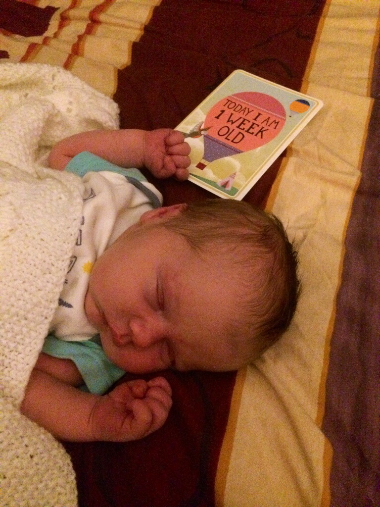 Jaxon is 1 Week Old