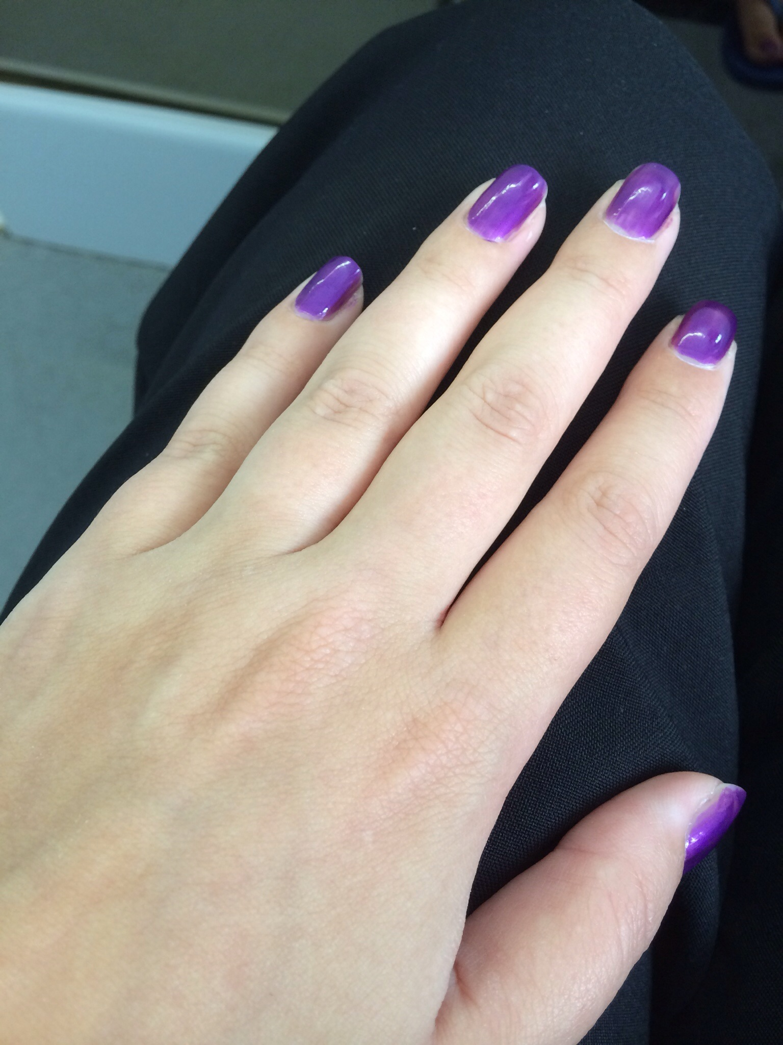 Funky purple nails