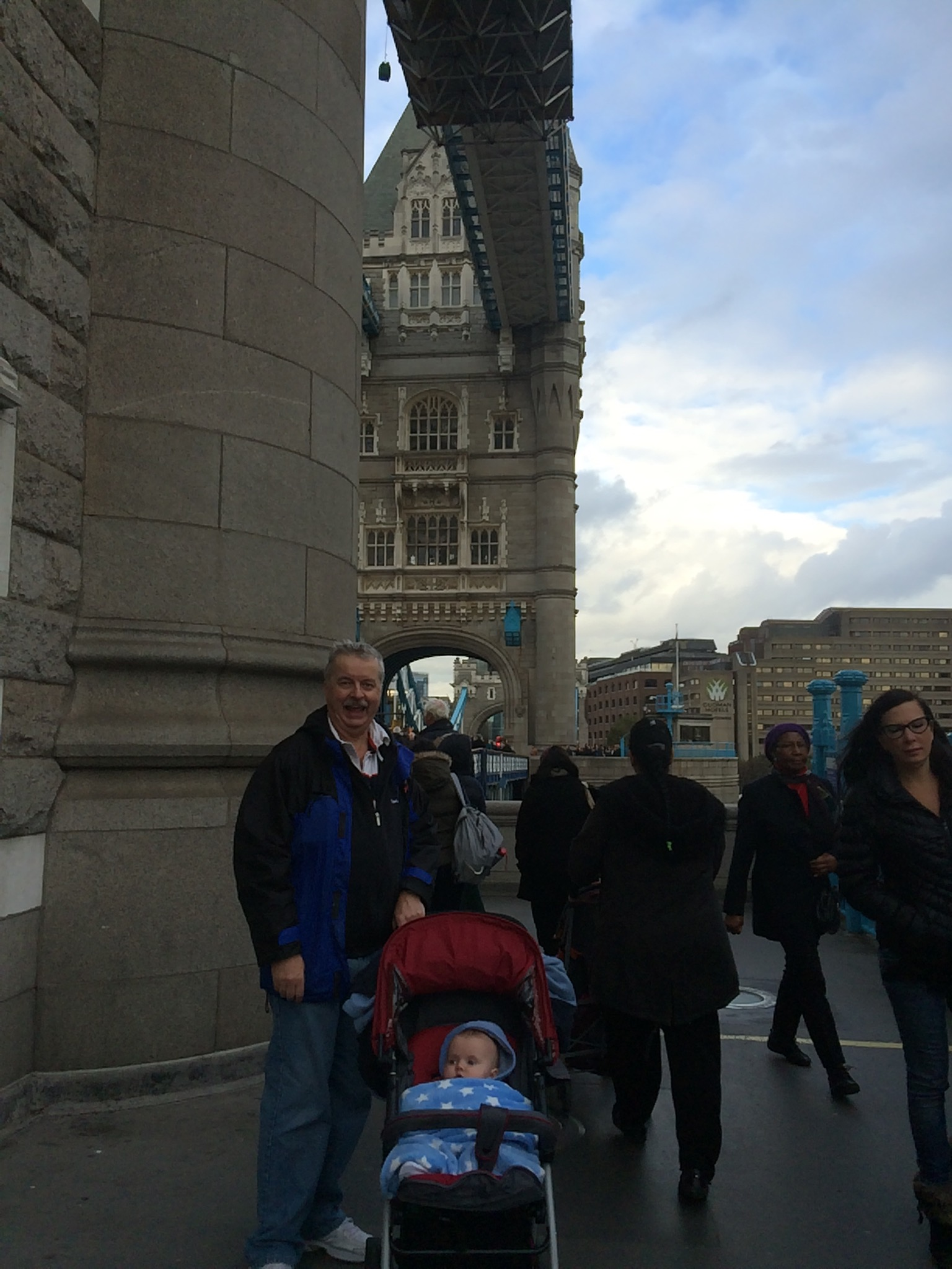 Grandpa and Jaxon on Tower Bridge
