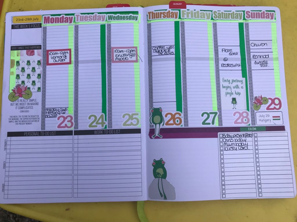 Week 23rd - 29th July Using Mrs Brimbles Stickers